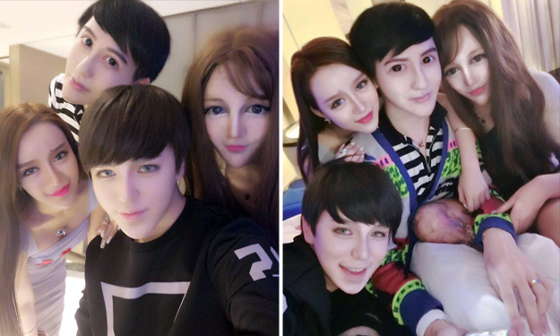 China's 'snake spirit boy' shows off his friends -- and they all look eerily alike
