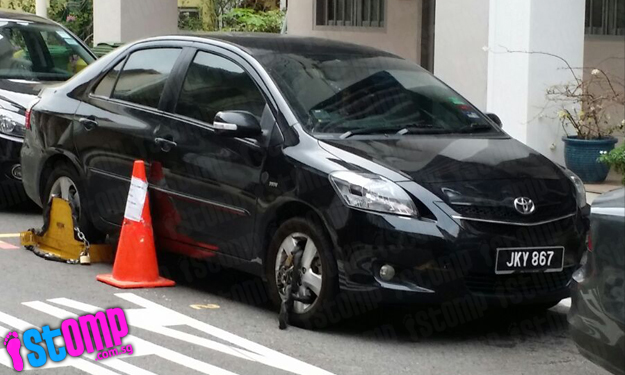 What did this driver do? Parked car gets not 1 but 2 wheels clamped along Everton Road