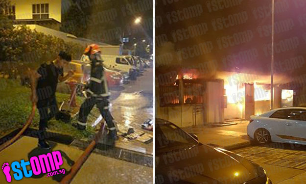 82 evacuated and 4 suffer smoke inhalation after fire breaks out at Hougang St 22 coffeeshop