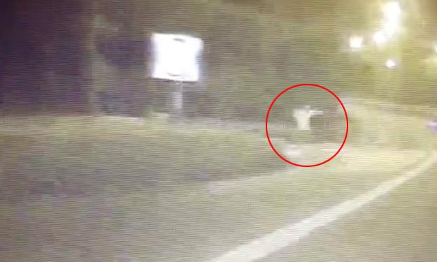 Driver spots spooky floating figure on PIE