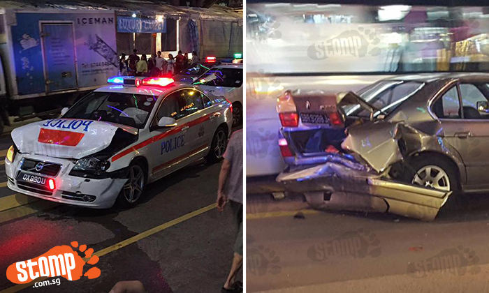 28-year-old Subaru driver arrested after high-speed chase in Geylang Serai that left TP car and BMW wrecked