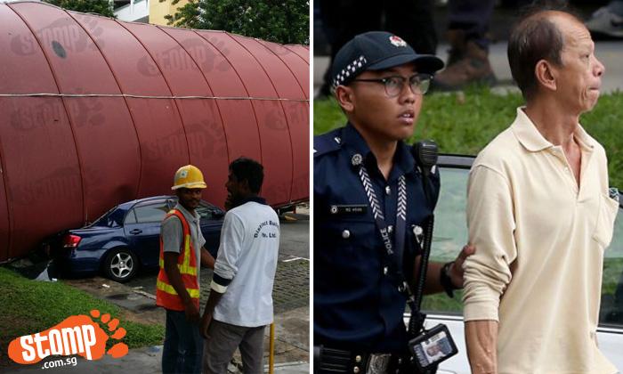 Witnesses describe 'terrifying' instant walkway fell at Bukit Batok