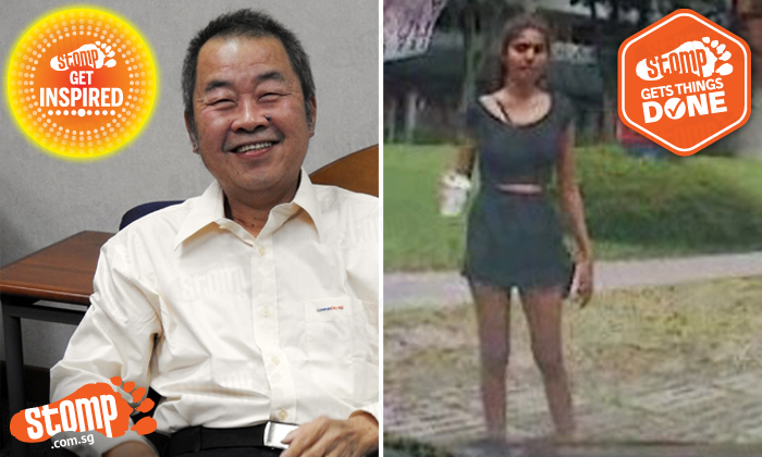 Left: Comfort Taxi driver Mr Tan Chin Heng, who made headlines for how kindly he treated a passenger who had forgotten his wallet. Right: In a separate incident, a girl allegedly evaded paying her cab fare by leaving behind a broken bag full of rubbish for the driver, but expressed remorse over her actions after a video of her behaviour was posted on Stomp.