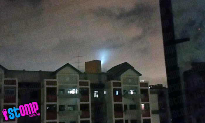 Beach Rd resident looks out window -- and sees strange light behind HDB block
