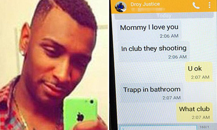 """""""Mum, I love you. I'm gonna die"""": Heartbreaking last messages from victim of Orlando shooting"""