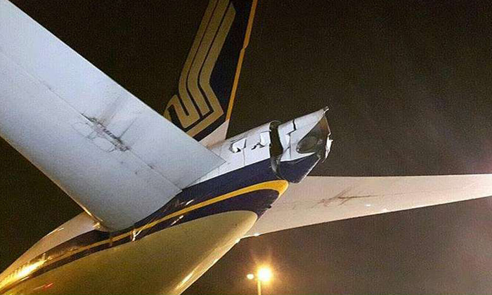 SIA aircraft damaged after hitting another plane at Changi Airport