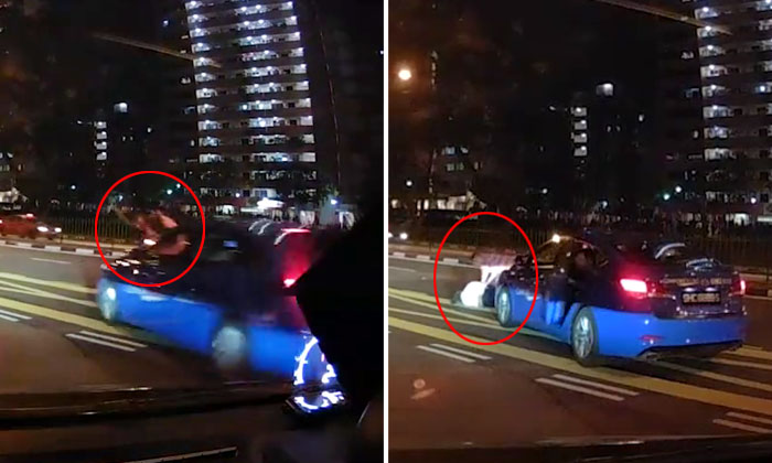 Cyclist sent flying after taxi crashes into him at Lower Delta Road