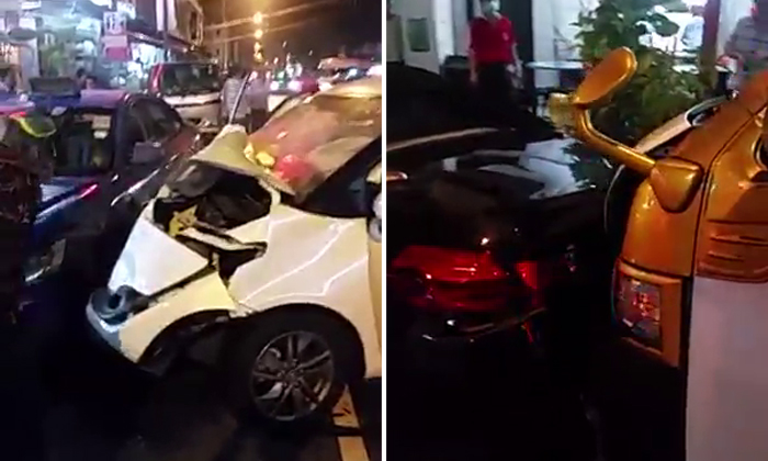 Try counting how many vehicles are involved in Geylang Lor 15 accident