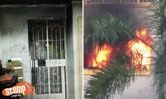Raging flames coming out of Pasir Ris flat reportedly caused by charging e-bike battery