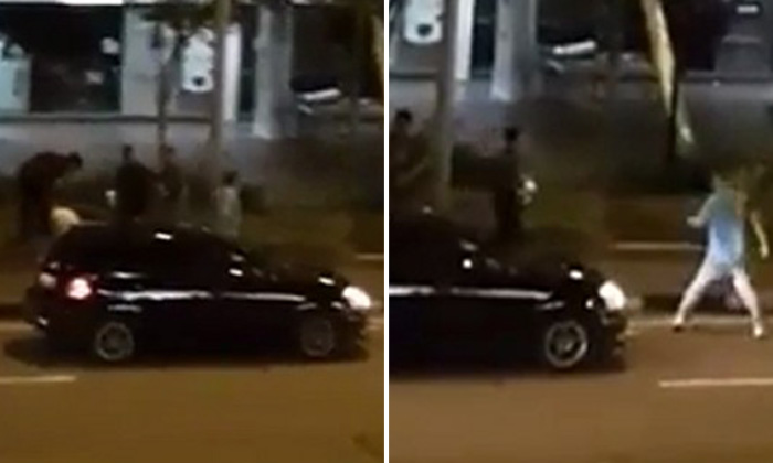 Men brawl with cabby at Changi Village: Netizen alleges they were told to throw their beer bottles before boarding taxi