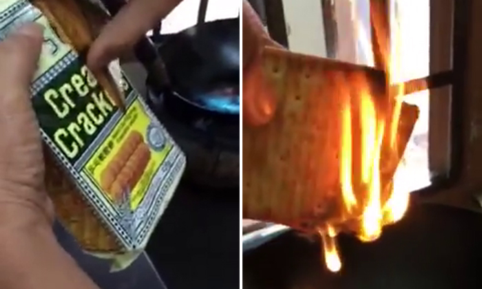 Claim that popular cream crackers contain flammable plastic gets netizens fired up
