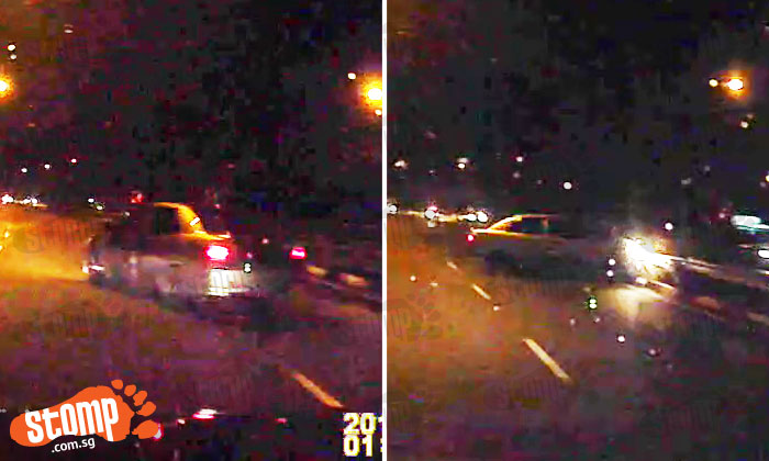 Initial D fail! Driver crashes into road divider after speeding at bend on KPE