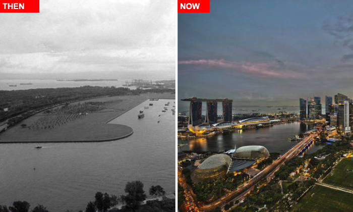 Cool before-after photos show how much Singapore and other cities have changed over decades