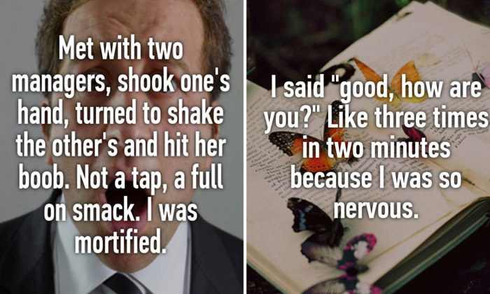 People confess their most embarrassing interview moments
