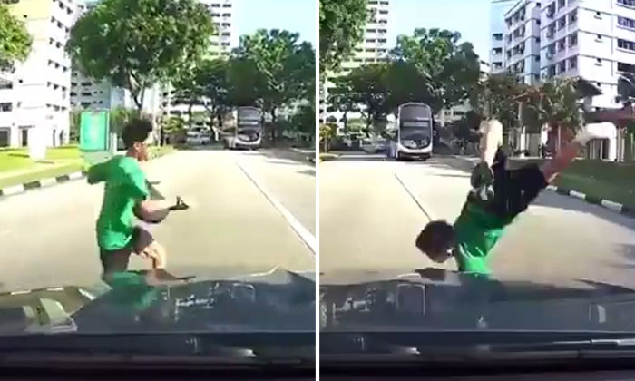 Parents, please, please, please educate your kids on road safety: One foolish mistake like this could be their last