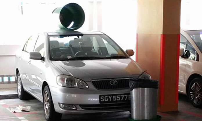 Here's what happens when you park your car across motorcycle lots at Pasir Ris Street 12 carpark