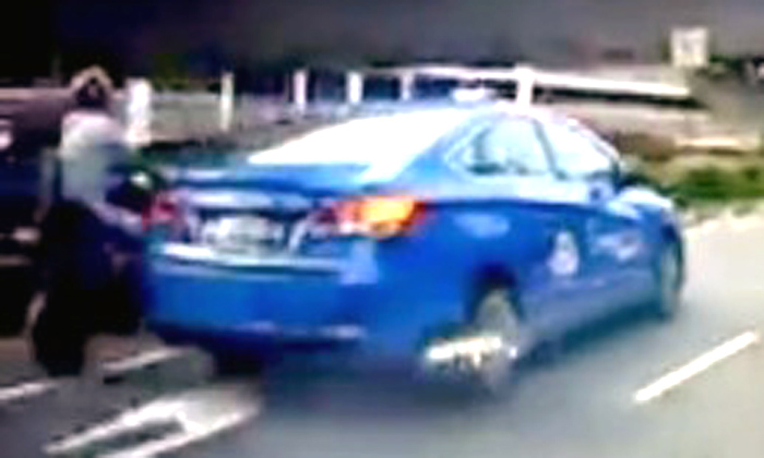 E-biker and pillion rider without helmet collide with taxi at Choa Chu Kang Road