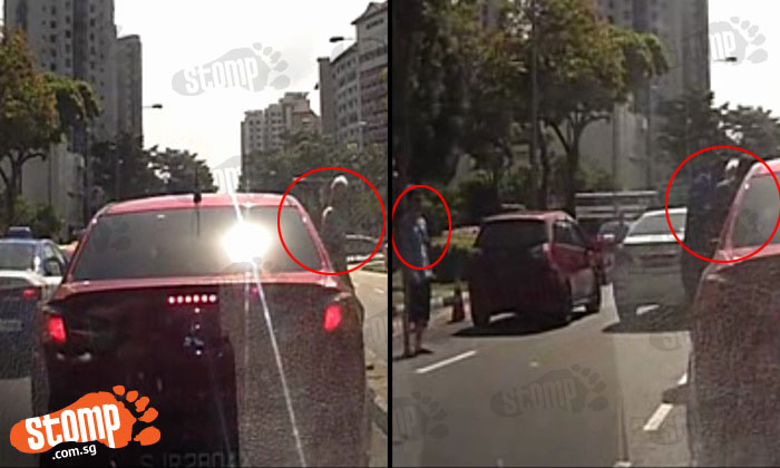 Good job people! Look how many motorists stop to help elderly man who fell on road