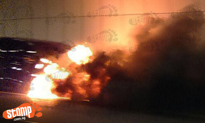 Drivers forced to turn around or leave vehicles after car goes up in flames at KPE tunnel