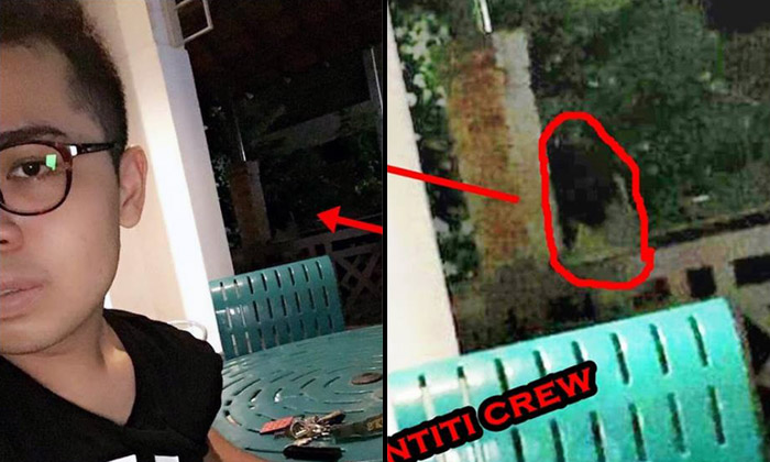 Guy takes selfie at Bukit Batok void deck -- and spots creepy photobomber