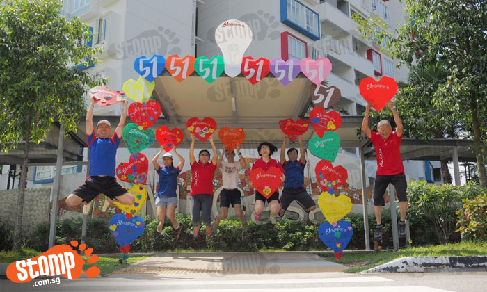 Choa Chu Kang condo residents start National Day celebrations early with cool decorations