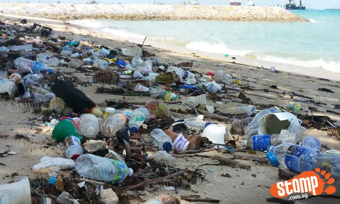 Stomper appalled by heaps of rubbish seen on beach at East Coast Park
