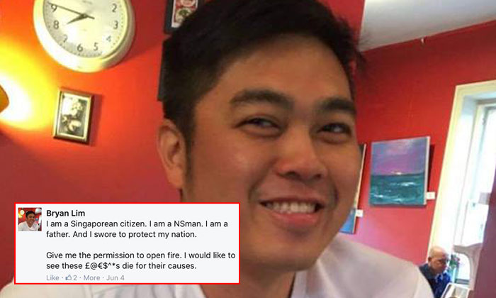 Police investigating netizen who threatened to 'open fire' on LGBT community, clarify he is not police NSman