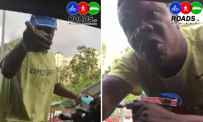 E-bike rider threatens driver for honking at him and even tells him that he is a CIA officer