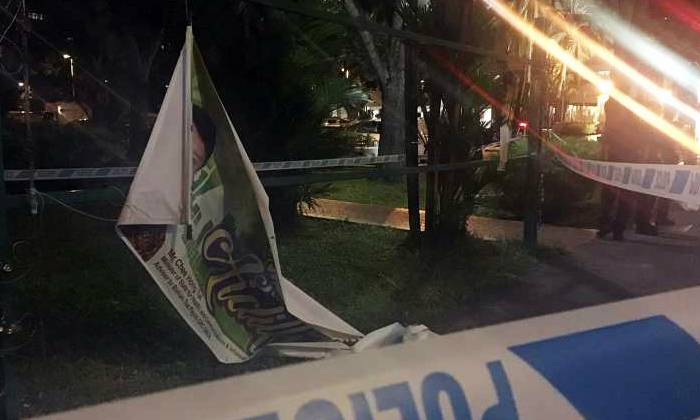 Grassroots banners at Toa Payoh 'slashed' by man: Eyewitness