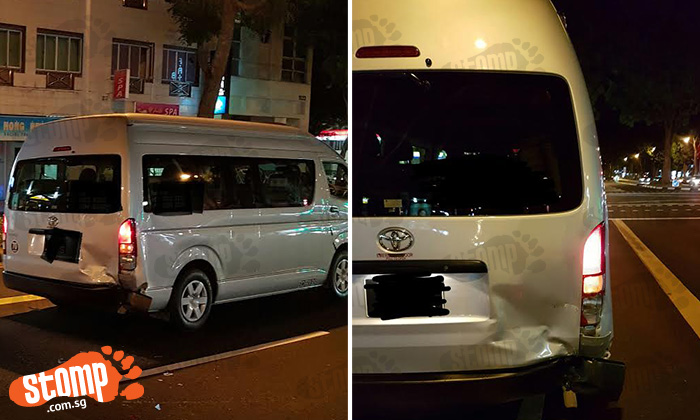 Man makes plea for eyewitnesses after driver allegedly hits his van at Upper Serangoon Rd and drives away