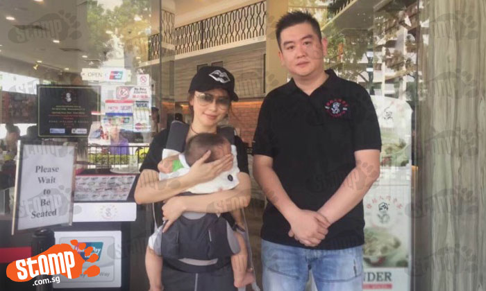 Vivian Hsu spotted with husband and baby at Founder Bak Kut Teh's Jalan Sultan outlet