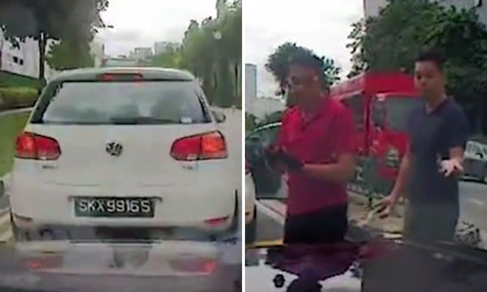 Real or staged? Netizens slam Volkswagen driver who jammed on brakes and caused accident at Toh Guan Rd