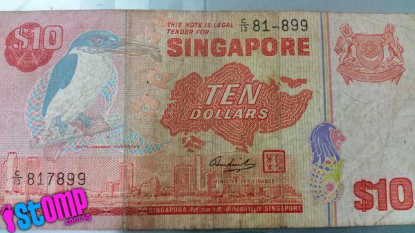Trip down memory lane: Here's how the old S'pore $10 note looks like