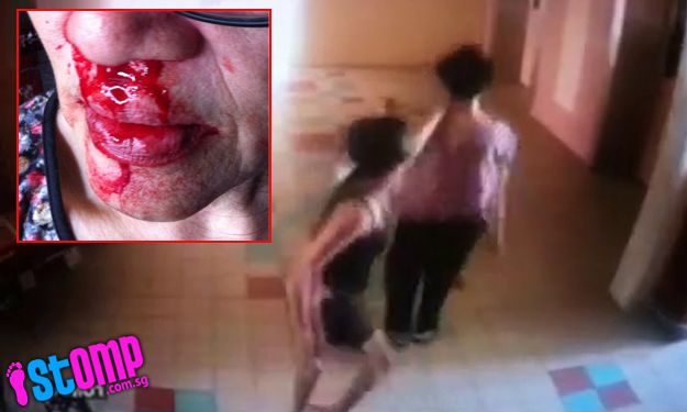 Elderly woman gets brutally beaten up by neighbour at lift landing