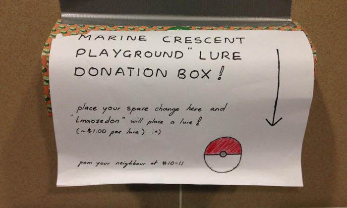 Marine Crescent resident will place a Pokemon lure for every $1 donation