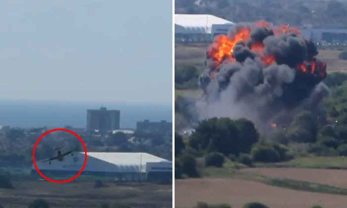 7 dead and 14 injured after pilot in England crashes plane during aerial stunt