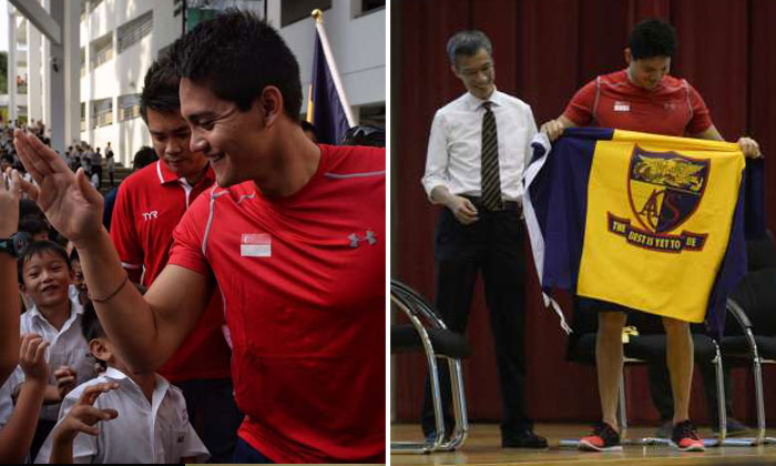 Joseph Schooling doesn't forget his ACS teachers