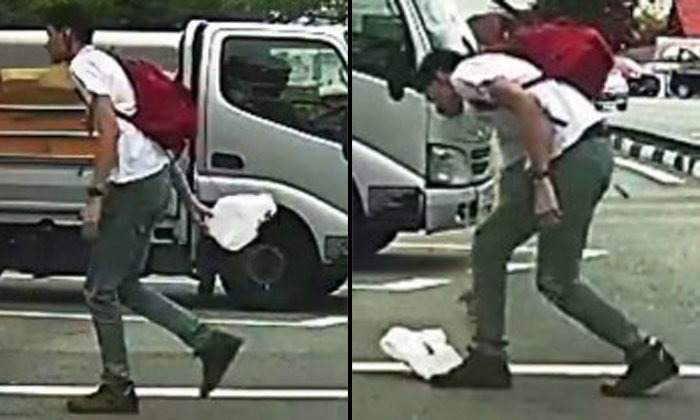 Young man's simple act of picking up litter from street will restore your faith in S'poreans