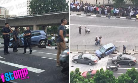 Unbelievable 'accident' at Boon Lay Way turns out to be dramatic drug bust by CNB