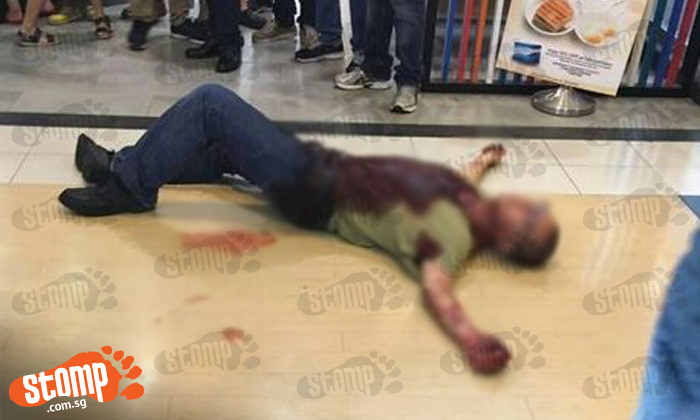 Man lies in pool of blood from multiple injuries at Northpoint Shopping Centre