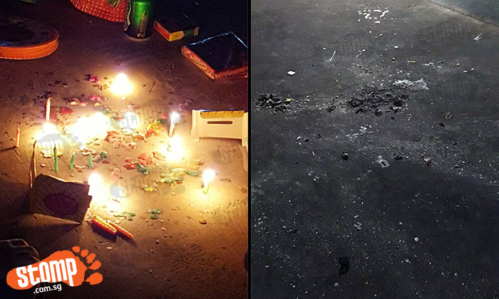 Lighted candles leave wax mess at Yishun and Woodlands Lantern Festival celebrations