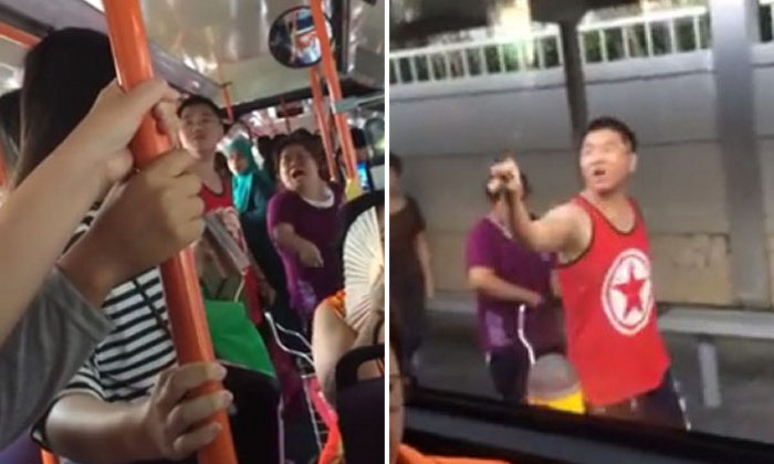 'Stupid Singaporean!' Man and woman get into heated argument on bus