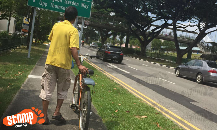 Rude uncle verbally attacks e-scooter rider and even tells her to 'go back to your country'