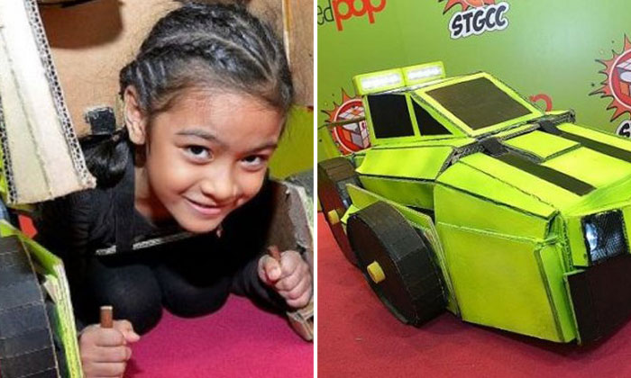 S'pore kids wow crowds with recycled cosplay costumes