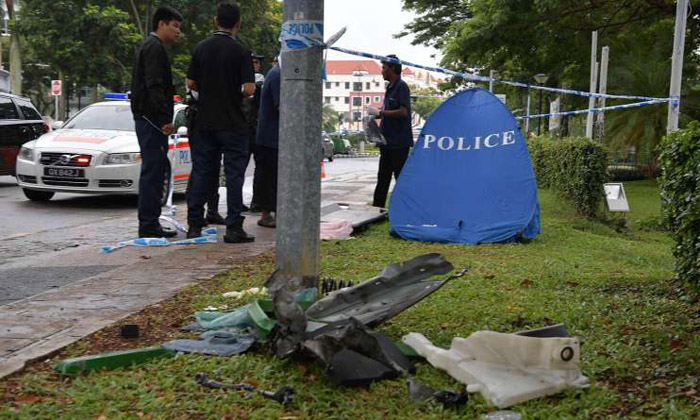 25-year-old man dies after crashing car into road divider on East Coast Road