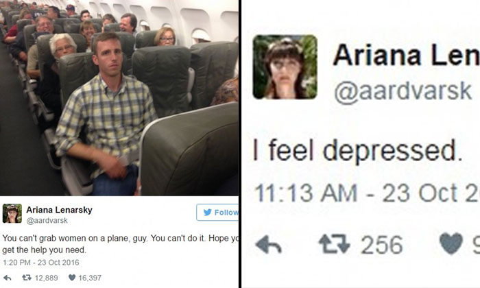 American woman live-tweets her sexual harassment on plane ride