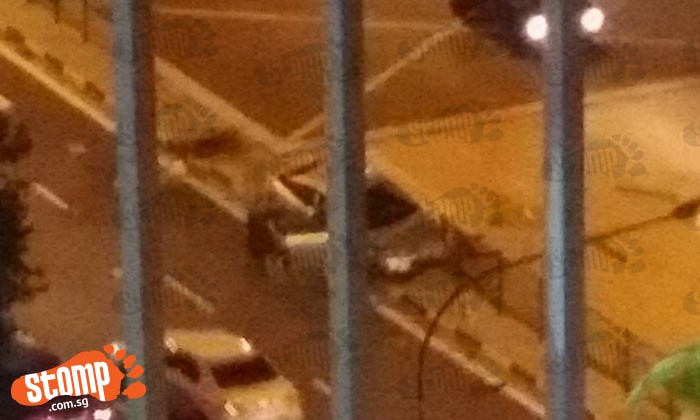 Driver smashed car into barricade along Woodlands Road