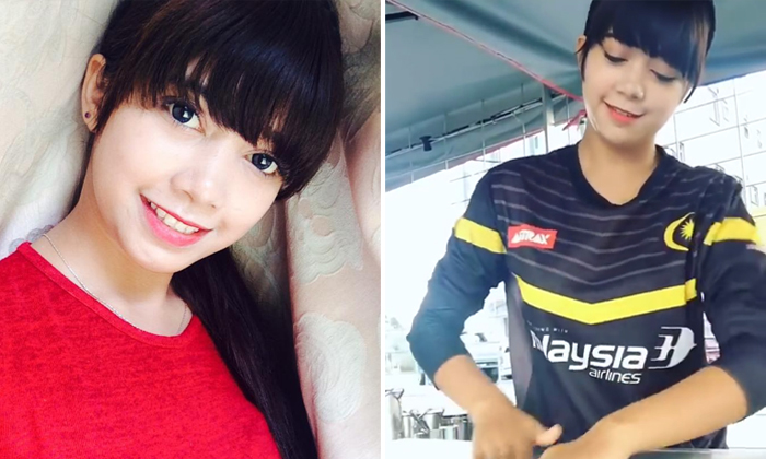 Seriously cute 'roti canai' girl steals the hearts of netizens