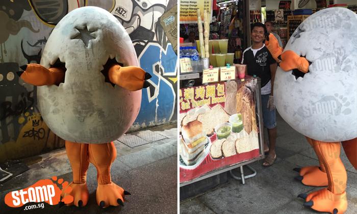 Cute 'dino egg' in Bugis brings more surprises than you can imagine