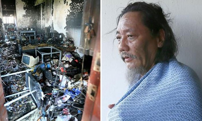 Bedok South fire: Retiree's flat destroyed after he tried to put out flames with water